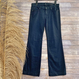 30 7 For All Mankind Black Denim The Slim Trousers